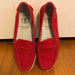Beautiful Red Cole Haan Boat Shoes/weekenders